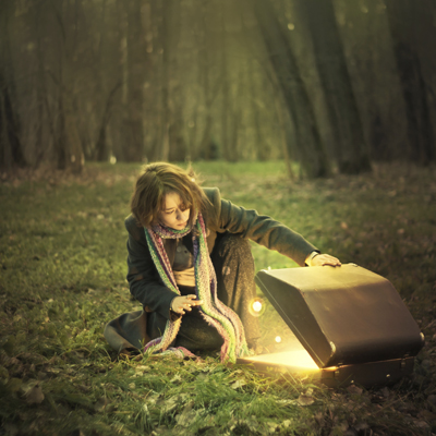 Girl with a Magic Box