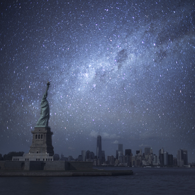 New York at night without lights
