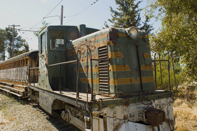 Locomotive waiting to be restored