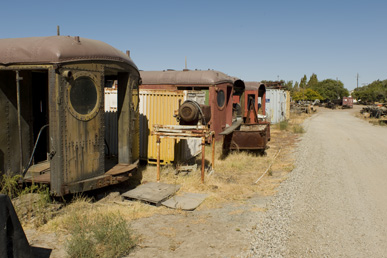 Railroad cars waiting to be restored