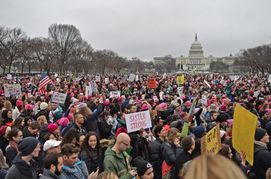 Women's March in Washington, DC, January 20